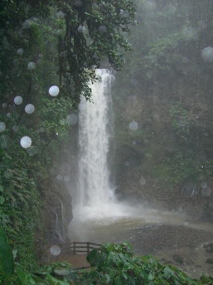 zweiter Wasserfall der Waterfall Gardens