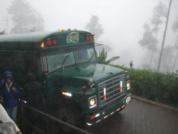 Shuttle von den Wasserfällen zum Haupthaus