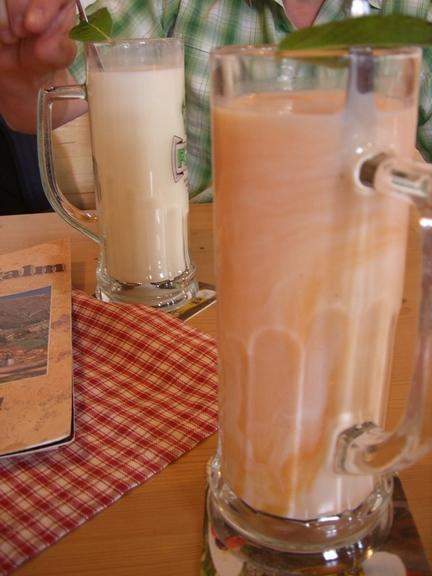 Glas Buttermilch