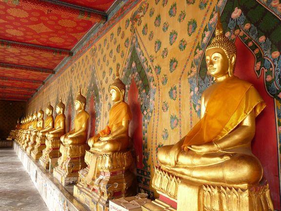 in einem Tempel in Bangkok