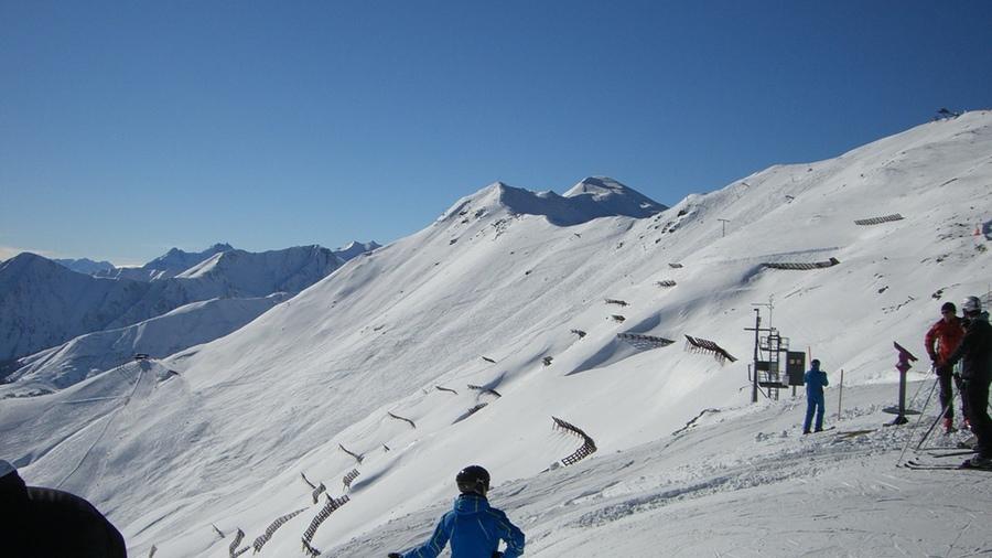 Schnee auf den Gipfeln in Serfaus-Fiss-Ladis