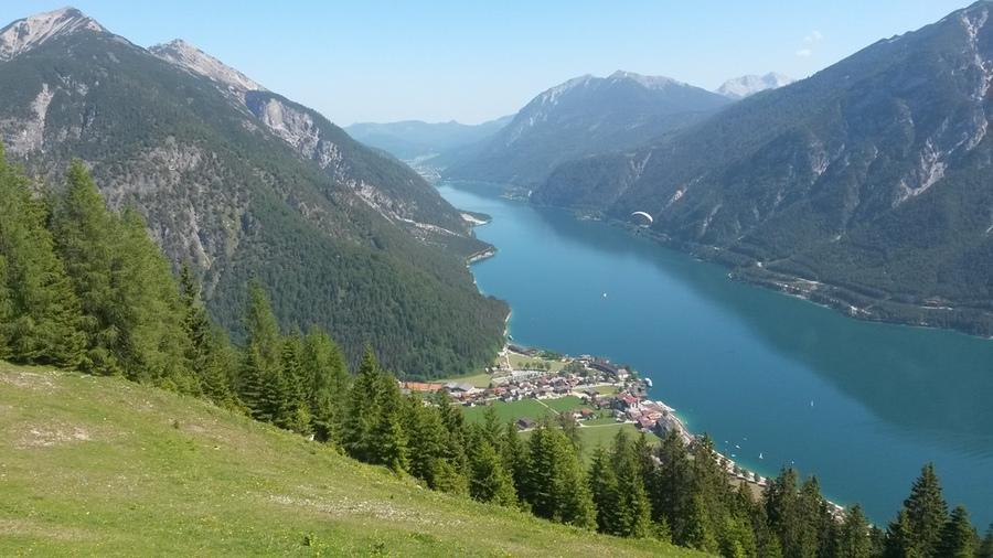 Achensee und Pertisau aus Richtung Karwendel-Bergstation