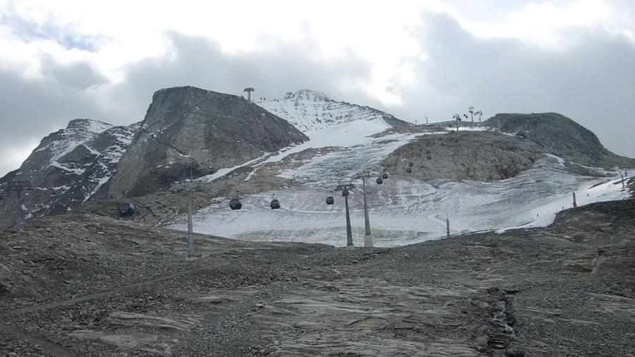 Richtung Bergstation des Gletschers in Hintertux