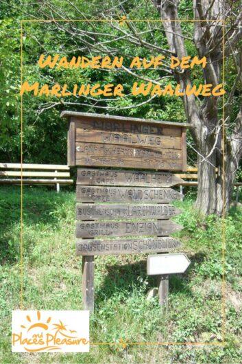 Hinweistafel zu den Jausenstationen auf dem Marlinger Waalweg