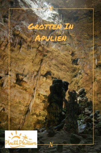 Gesteinsformation in der Grotte di Castellana