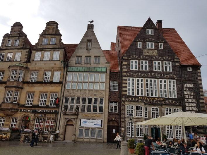 historische Kaufmannshäuser am Marktplatz in Bremen