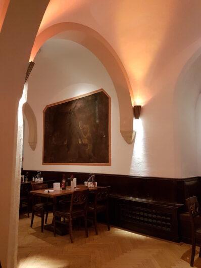 Wandfresco im Gewölbe des Hauffsaals im Bremer Ratskeller