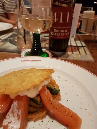 erster Gang des Walking Dinner bei Bremen kulinarisch entdecken