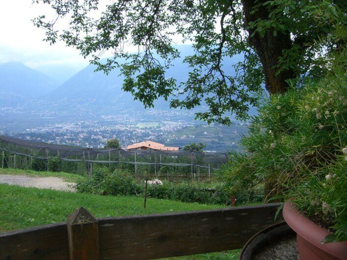 Ausblick vom Brunjaunhof auf Meran
