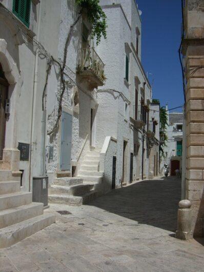 weiße Häuser in Cisternino