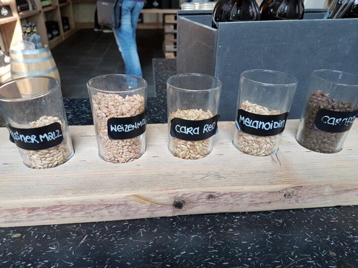 Zutaten für die Biere der Craft Beer Brauerei
