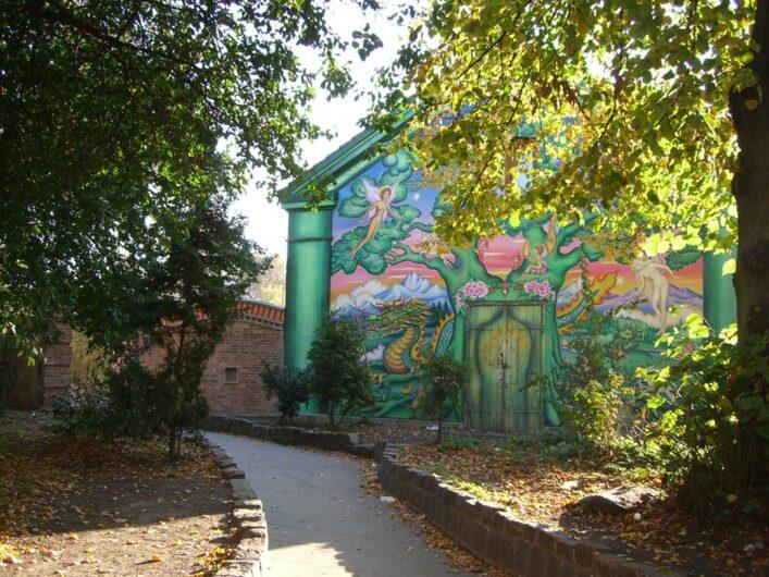 Eingang zur alternativen Wohnsiedlung Freies Christiania