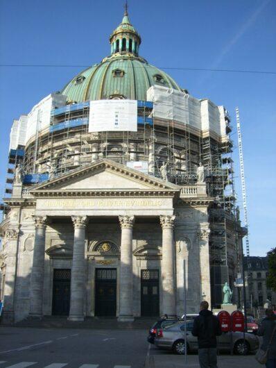 die Frederikskirche oder auch Marmorkirche genannt von außen