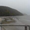 trübes Wetter in Herbst und Winter am Ostseestrand