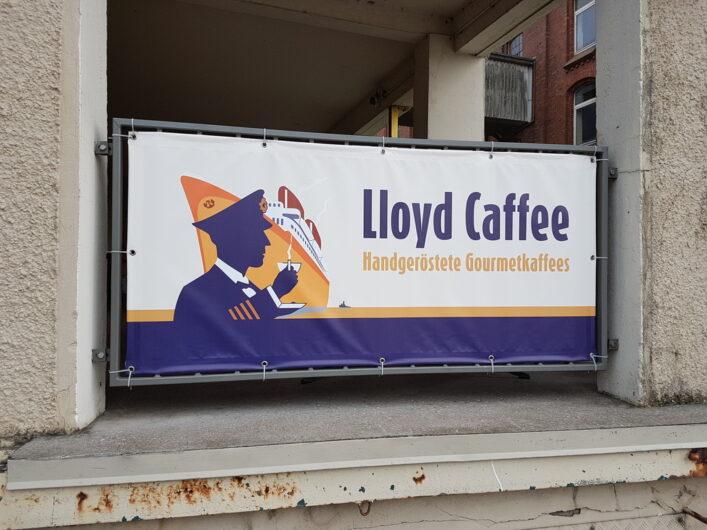Eingangsbereich zu Lloyd Caffee im Bremer Holzhafen
