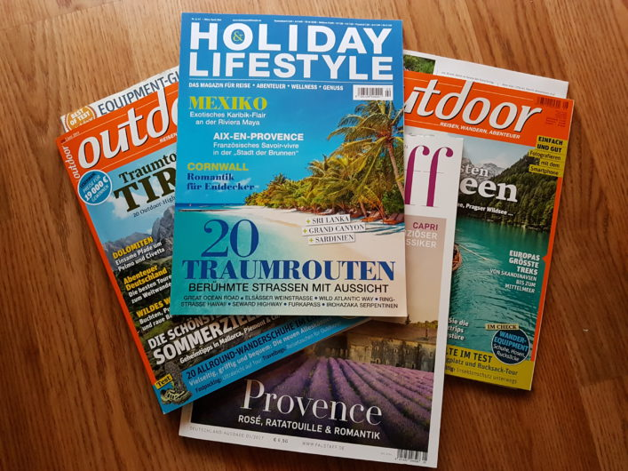 Outdoor- und Reisemagazine