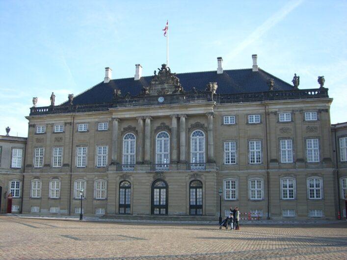 Blick auf Schloss Amalienborg