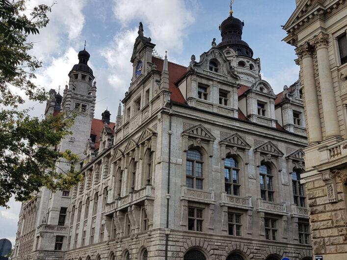 Historisches Gebäude mit Sitz der Stadt Leipzig