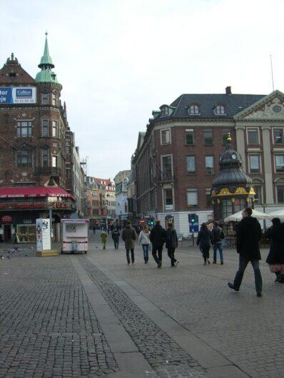 Beginn der Fußgängerzone Ströget
