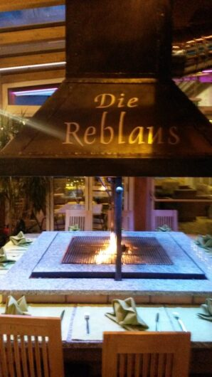 Indoor-Grill in der Pizzeria Reblaus in Ladis