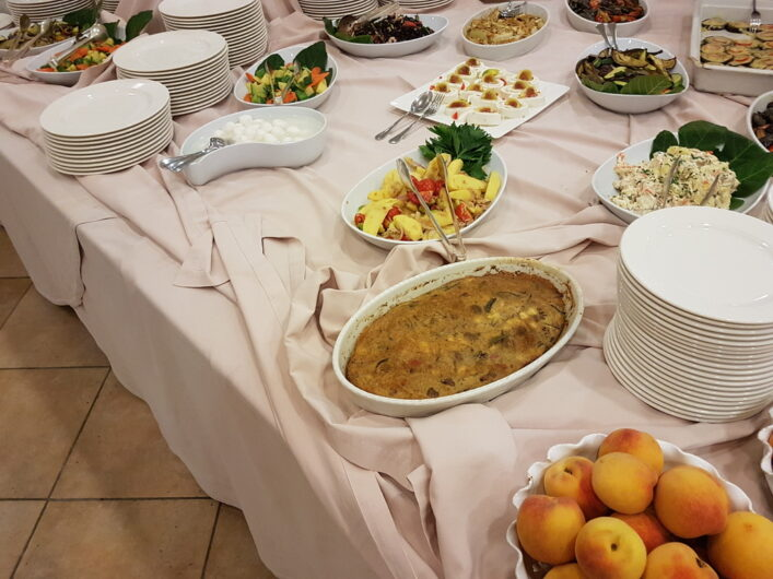 Antipasti-Buffet beim Dinner