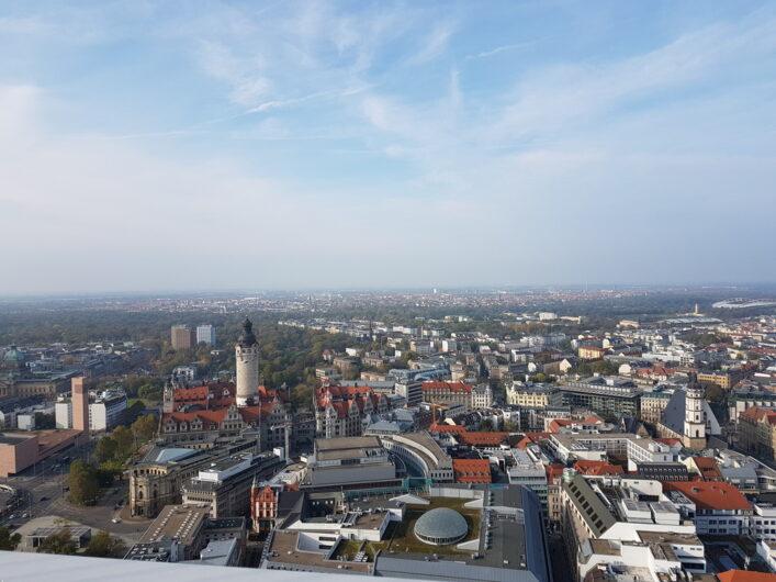 Blick über Leipzig vom Panorama Tower aus