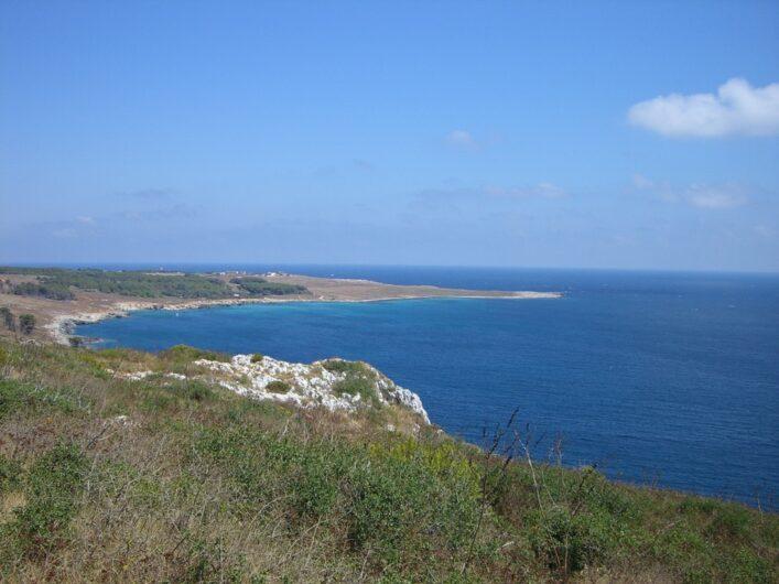 Blick über die Dünen am adriatischen Meer