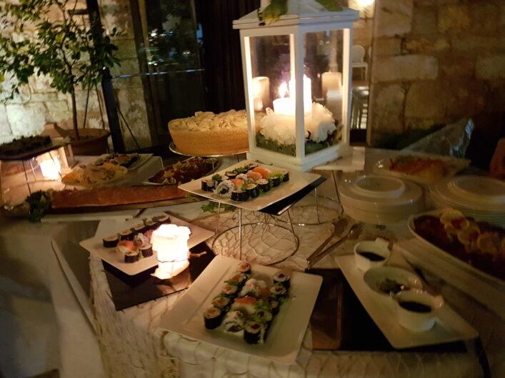 Antipasti-Buffet mit Sushi zu Ferragosto