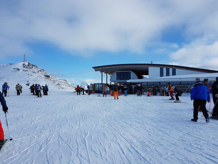 Restaurant BergDiamant auf dem Gipfel des Schönjoch in Fiss