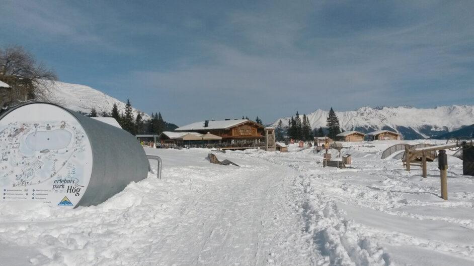 Der Erlebnispark Hög im Schnee