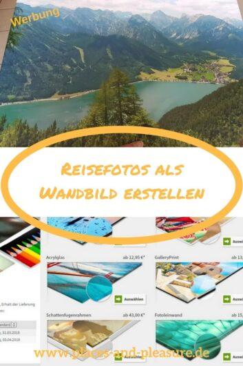 (Werbung) Du willst deine liebsten Urlaubsfotos öfter mal ansehen? Dann lass dir ein Wandbild daraus machen. Meine Erfahrung mit Saal Digital liest du im Beitrag. #urlaubsfotos #wandbild