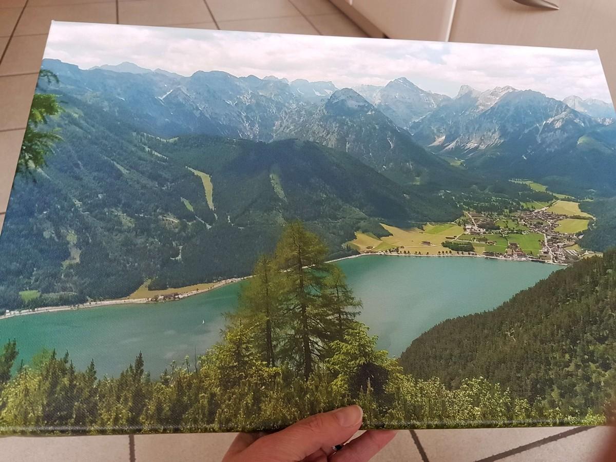 Blick auf das Wandbild vom Achensee