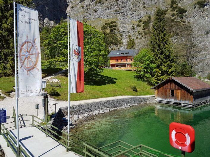 Anleger der Tirol Schifffahrt an der Gaisalm