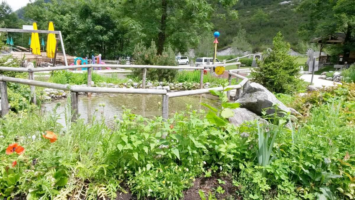 Kneippgarten hinter der Gramaialm