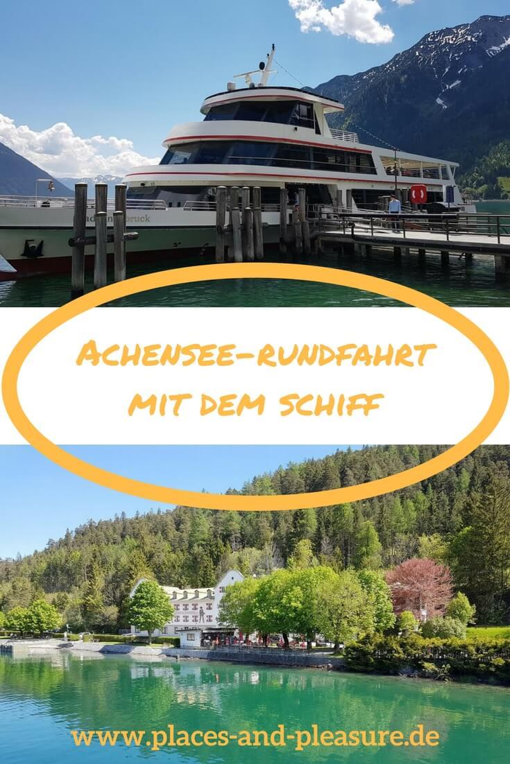 Ein atemberaubender Blick auf die umliegende Bergwelt, herrlich klares, türkis schimmerndes Wasser: ein absoluter Genuss ist die Achensee-Rundfahrt mit dem Schiff. #Schiffstour #Ausflugstipp #Achensee #Tirol