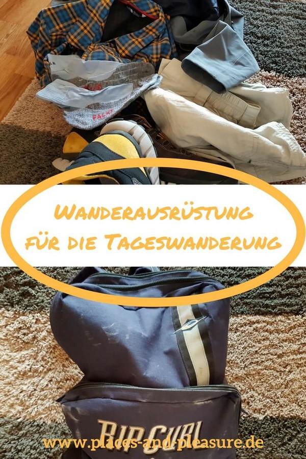 Du wanderst gerne? Und länger als einen Tag bist du dabei nicht unterwegs? Lies, was du unbedingt an Wanderausrüstung für eine Tageswanderung brauchst. (Enthält Affiliate-Links) #Wandern #Wanderausrüstung #Tageswanderung