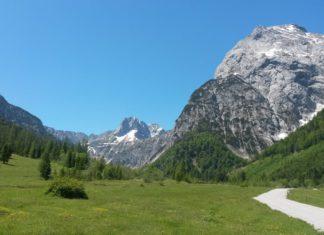 mächtige Gipfel im Blick auf der Wanderung zur Gramaialm