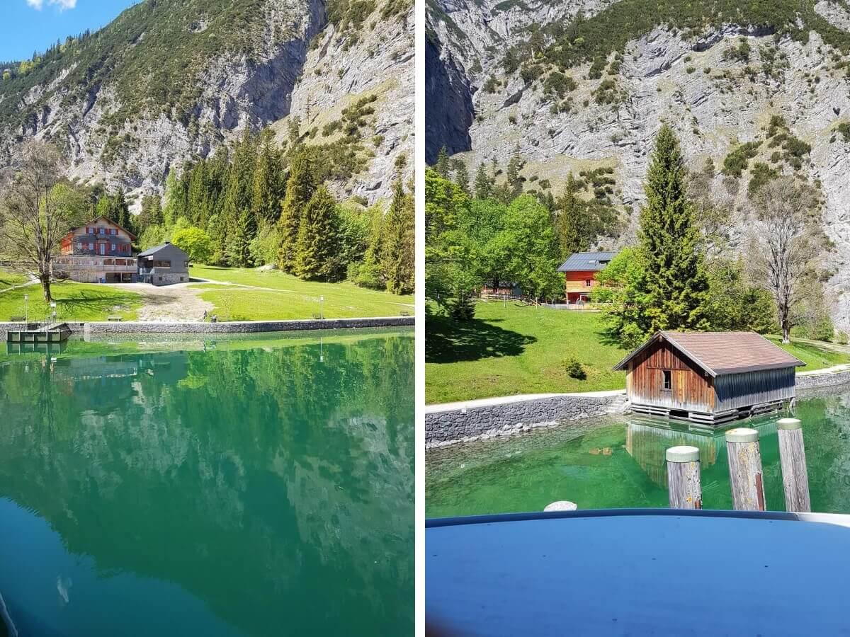 Blick von der MS Innsbruck auf die Gaisalm