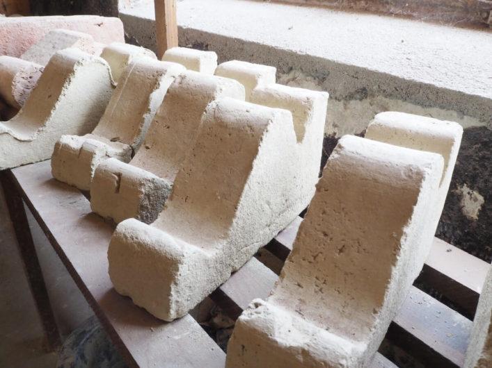 Steinornamente im Bachsteinmuseum von Kloster Jerichow