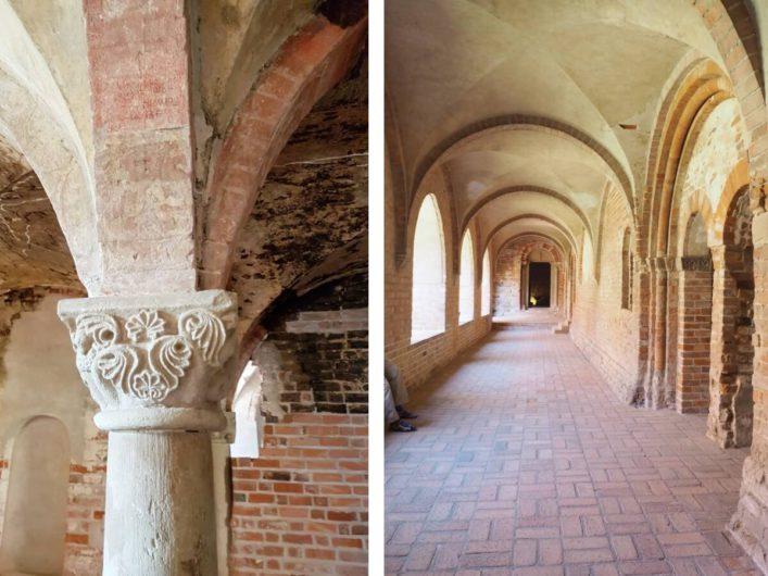 der Kreuzgang und reich verzierte Kapitelle im Kloster Jerichow