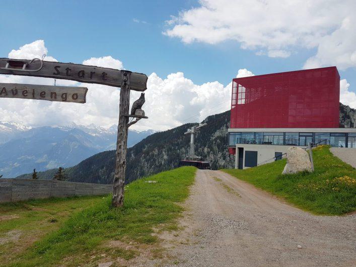 Bergstation der Seilbahn Meran 2000