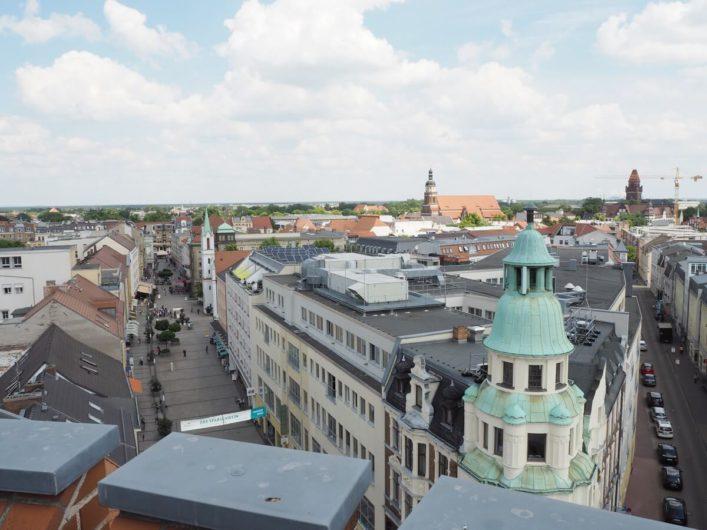 Blick vom Spremberger Turm über die Cottbuser Altstadt