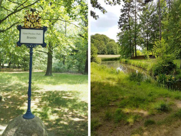 zwei Ansichten des Fürstlichen Parks Branitz in Cottbus