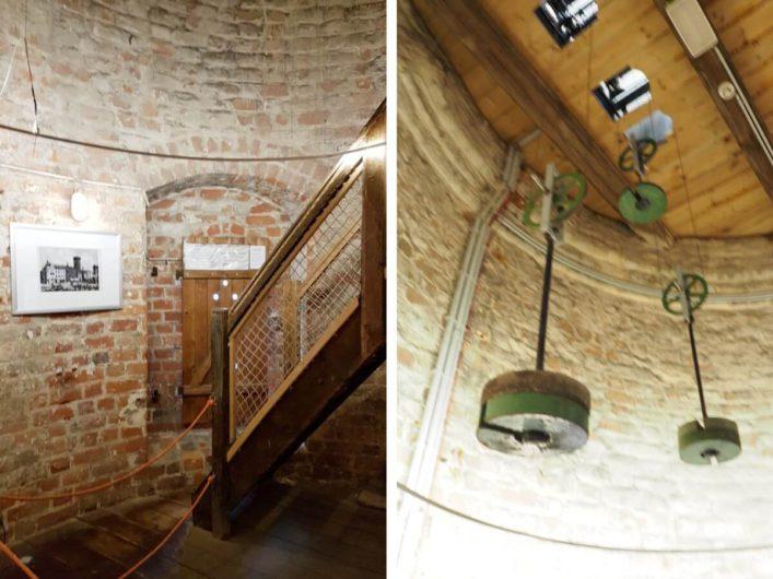 Treppe und Pendel im Spremberger Turm in Cottbus