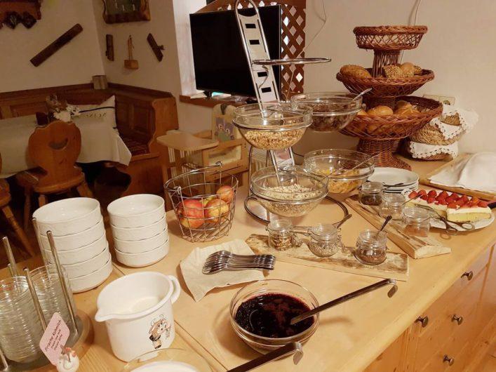 Frühstücksbuffet im Hansbauerhof in Jenig im Gailtal