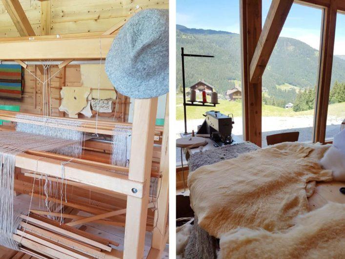 Wolle weben und filzen und Oberbetten nähen im Peintnerhof in Kärnten