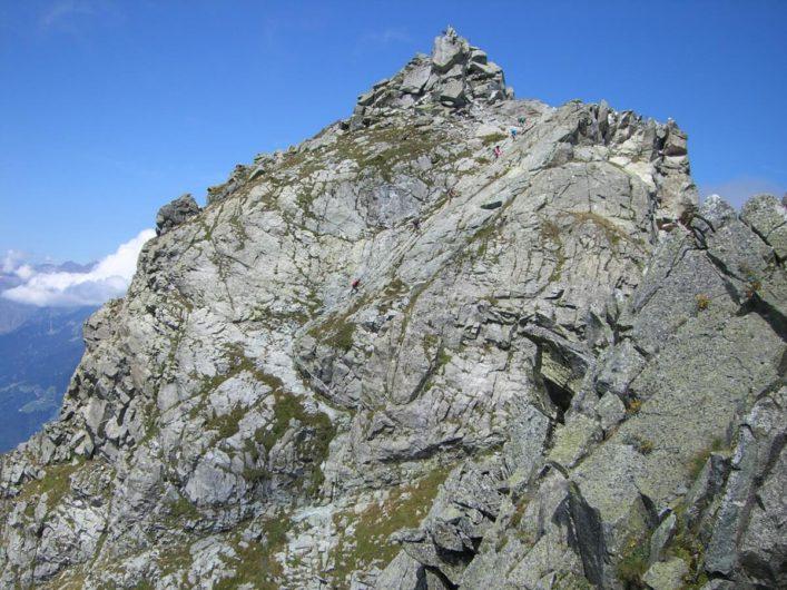 Schroffer Gipfel des Großen Ifingers im Meraner Land
