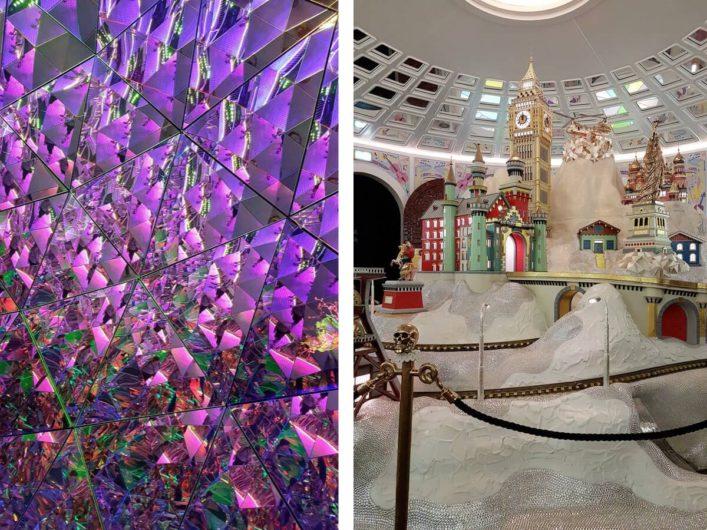 Glitzer und Glamour in den Räumen des Riesen der Swarovski Kristallwelten in Wattens