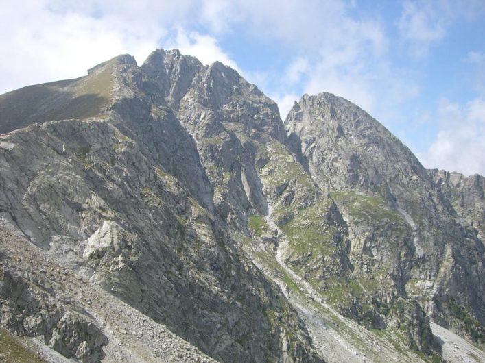 Blick auf die Gipfel des Ifinger auf Meran 2000