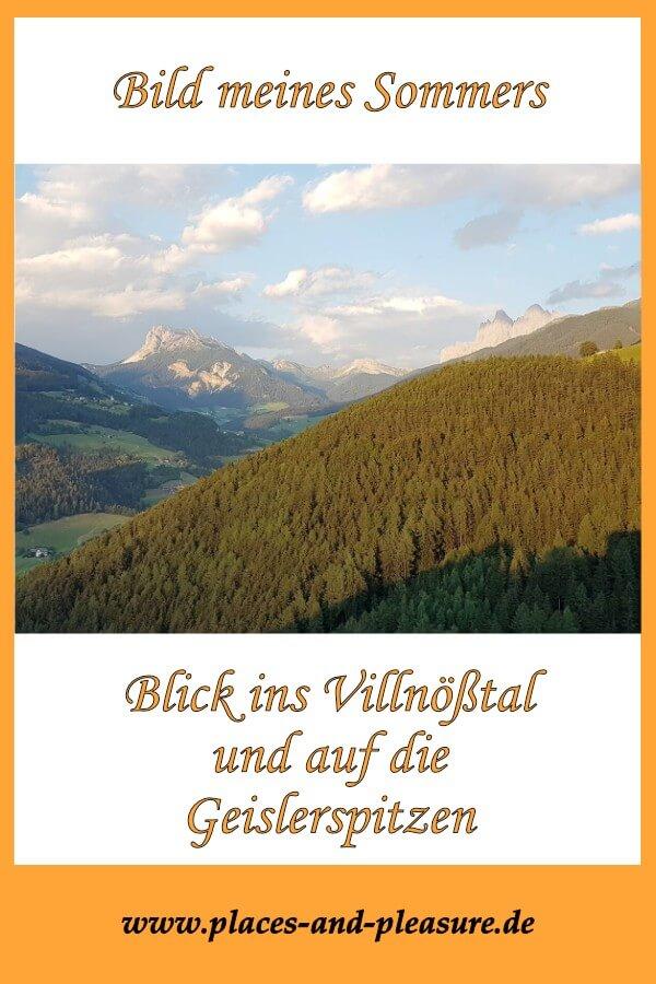 Einige Male war ich diesen Sommer unterwegs. Warum der Ausblick auf Villnößtal und Geislerspitzen dabei mein Bild des Sommers geworden ist, erzähle ich dir im Blog. #Südtirol #Villnößtal